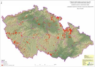 Preferenční oblasti kzahájení Komplexních pozemkových úprav (KoPÚ) zhlediska nedokončených přídělů'