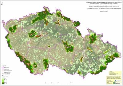 Preferenční oblasti kzahájení Komplexních pozemkových úprav (KoPÚ) zhlediska ochrany zvláště chráněných území'