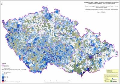Preferenční oblasti k zahájení Komplexních pozemkových úprav (KoPÚ) z hlediska vodohospodářských zájmů v krajině'